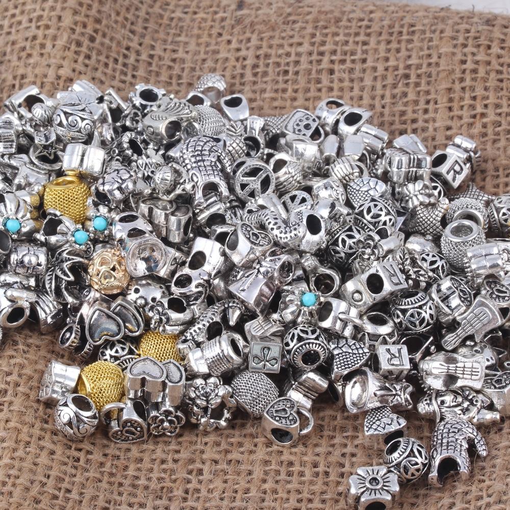 Sada 20 korálkových přívěsků na náramek či náhrdelník DIY