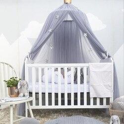 Детская кровать навес вокруг купола москитная сетка кроватки сетки висит палатка для детей украшение детской комнаты Подставки для фотогр...