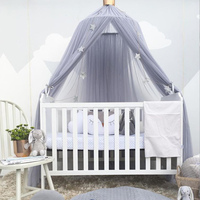 Baby Bed Canopy Curtain Around Dome Mosquito Net Crib Netting Hanging Tent for Children Baby Room Decoration Photography Props