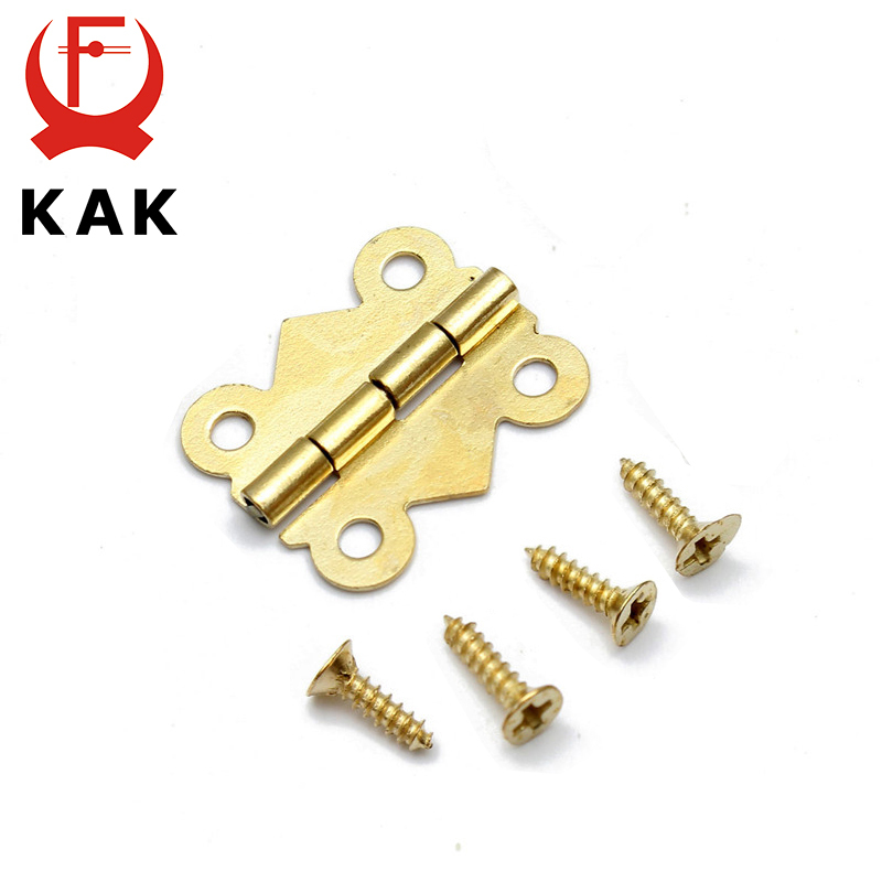 10pcs KAK 20mm x17mm Bronze Gold Silver Mini Butterfly Door Hinges Cabinet Drawer Jewellery Box Hinge For Furniture Hardware lhx p0fh04 1 39 57mm bronze hinge for jewelry box cabinet furniture diy family hardware