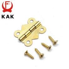 10 Uds. De Mini bisagras de mariposa para puerta de armario, cajón, joyero, bisagra para muebles, KAK, 20mm x 17mm