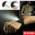 Tactical R2 Rechargeable LED Watch Flashlight Wristlight Waterproof Wrist Lighting Lamp Outdoor