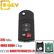 Bhkey 4 кнопочный ключ без ключа для mazda bgbx1t478ske125 01