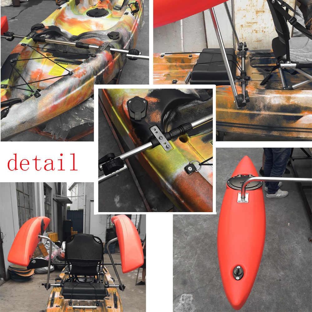 Deluxe Adjustable Canoe Outrigger Boat Stabilizer Sidekick Kakak Standing  Pole for Water Buoy DIY Float Pole Bracket
