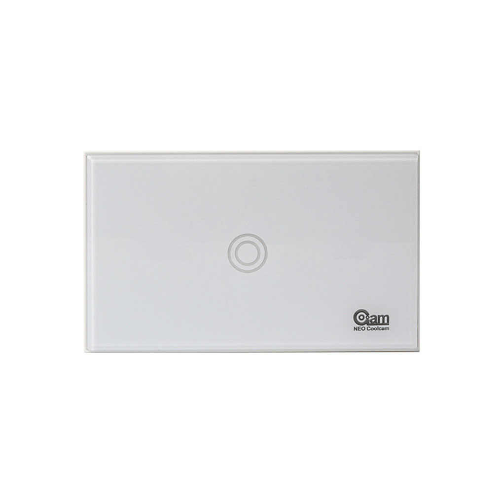 NEO COOLCAM Z-Wave Wall Light Switch 1 Gang Toughened Glass Wireless Smart Remote Control US Standard