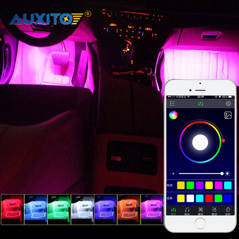 For Audi A3 A4 B6 B8 A6 C6 80 B5 B7 A5 Q5 Q7 TT 8P 100 8L C7 APP Control Car Interior Atmosphere Decoration Light LED Strip Lamp доска для объявлений dz 1 2 j8b [6 ] jndx 8 s b