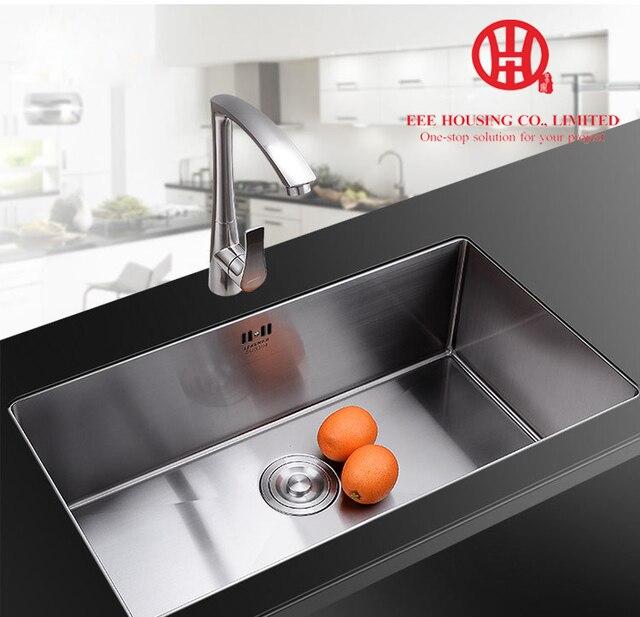 Single Bowl Kitchen Sink, 304 Stainless Steel Handmade Sink, Undermount Sink