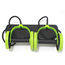 Brand New Tandem Abdominal Wheel Ab Roller With Mat For Exercise Fitness Equipment Ab Roller With Mat LCJA14
