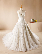 Heavy Handmade Luxury Diamond Palace Ultra-Luxury Long Tail Wedding Dress Sleeveless Sweetheart  Vestido De Novia NM 916