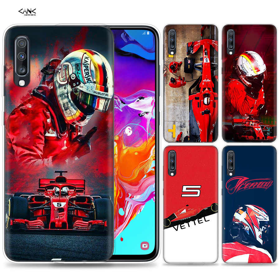 Bags Case for Samsung Galaxy Mobile Phone A50 A70 A30 A20 J4 J6 J8 A6 A8 M30 A7 Plus 2018 Note 8 9 Sebastian Vettel Coque J6Plus