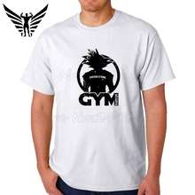 Muscleguys Brand 2017 Super Saiyan GYMS Instructor Design Men's T shirt Dragon Ball Goku Z Vegeta Printed Tees Anime Tops