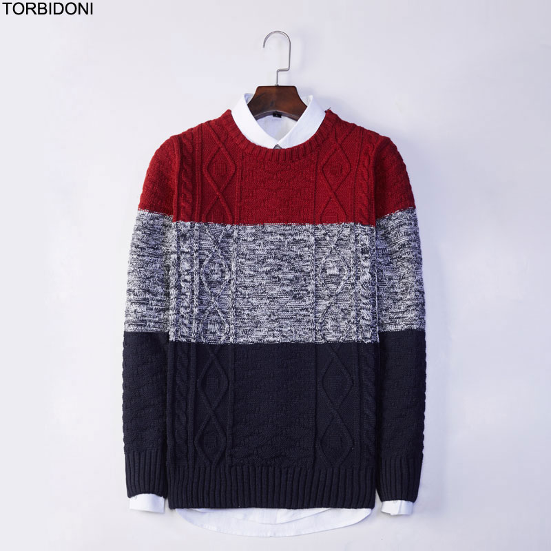 Autumn Mens Striped Sweaters Long Sleeve New Knitted Brand Clothing For Male Slim Knitwear Pullovers Male Knitting Clothes