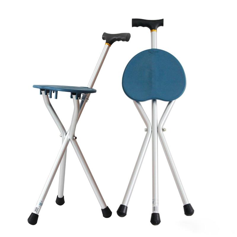 Mobilitätshilfen Diszipliniert Outdoor Aluminium Legierung Gehstock Klapp 3 Bein Faltbare Hocker Spazierstock Für ältere Mit Sitz Verschiedene Stile Gesundheitsversorgung