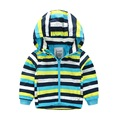 Children Clothing for Boys Girls 2016 Autumn Stripe Coat for Baby Boys Double Zipper Hooded Windbreaker Jackets Outwear Clothes