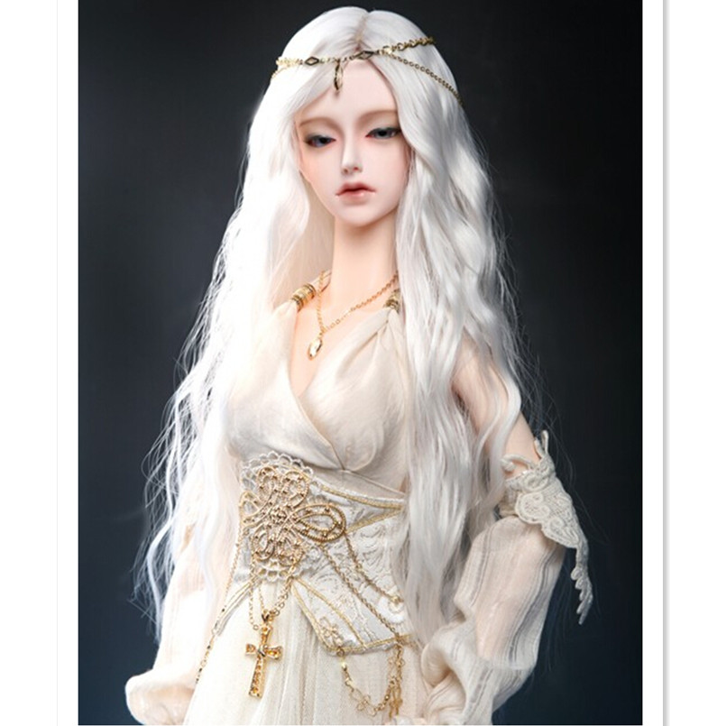 1/3 1/4 BJD Doll Wigs High Temperature Wire Long Wavy Hair for Dolls,New Design Synthetic Doll Hair Accessories for Dolls 1 8 1 6 1 4 1 3 uncle bjd sd dd doll accessories wigs gold long straight hair