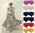 Fashion Women Sweet Bowknot Elastic Bow Wide Stretch Buckle Waistband Waist Belt Ladies Candy Color Corset Waist Belt