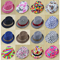 Retail Multiple Styles Mix Designs Allowed Children's Fedora Hats & Caps Spring/Autumn Hat Kids Jazz Cap Cowboy Hat FH038