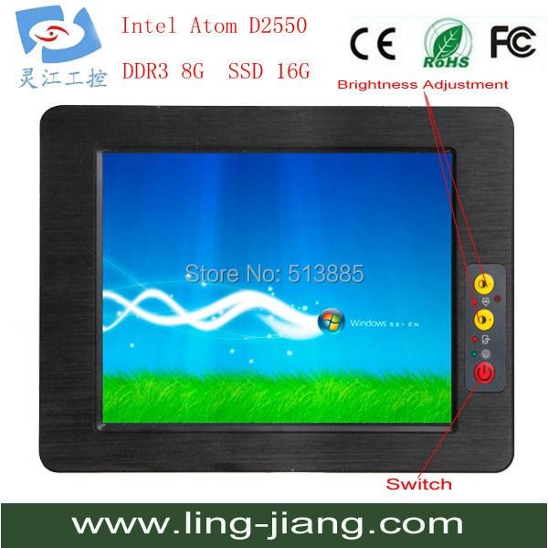 Best price 15 fanless high brightness industrial tablet pc