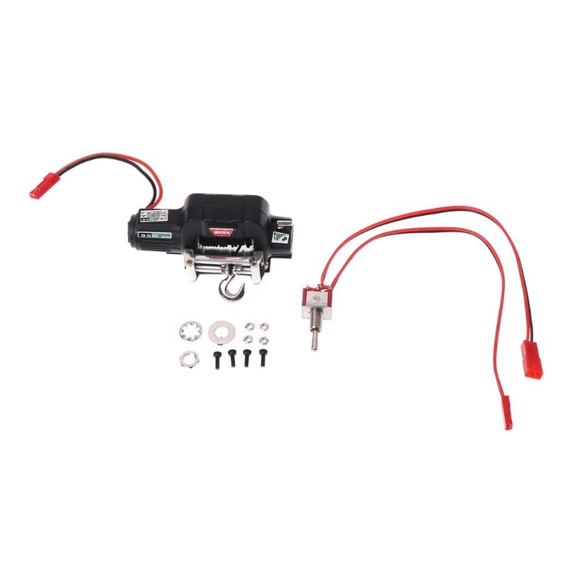 HBB RC Car Mini Metal Electric Winch for 1/10 Rock Crawler Traxxas TRX-4 Axial SCX10 NEW