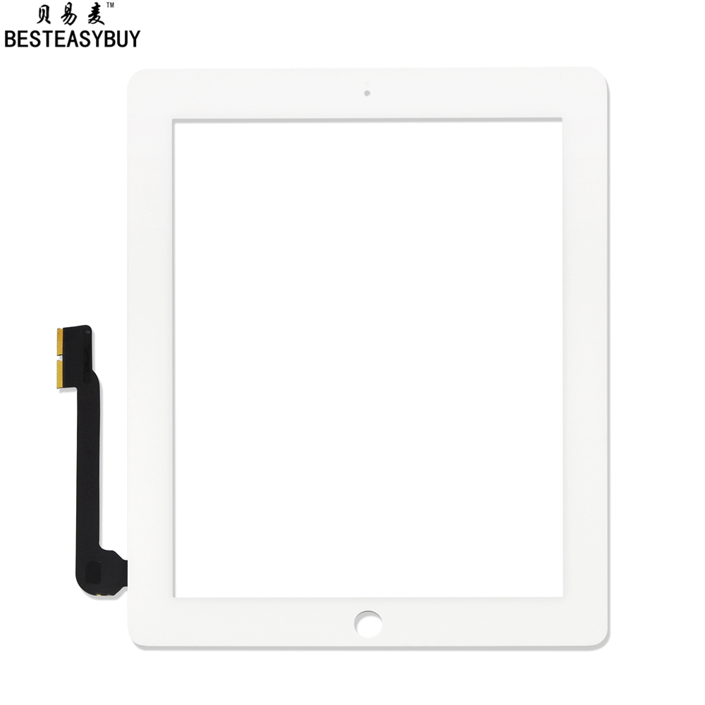 BESTEASYBUY 100% Guarantee Universal Touch Screen for iPad 3 iPad 4 Retina LCD Digitizer Screen Glass Replacement free shipping