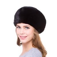 Natural mink fur warm charm fur cap women's winter hat stretch personality design 2018 new hot sale discount urban womenfavorite