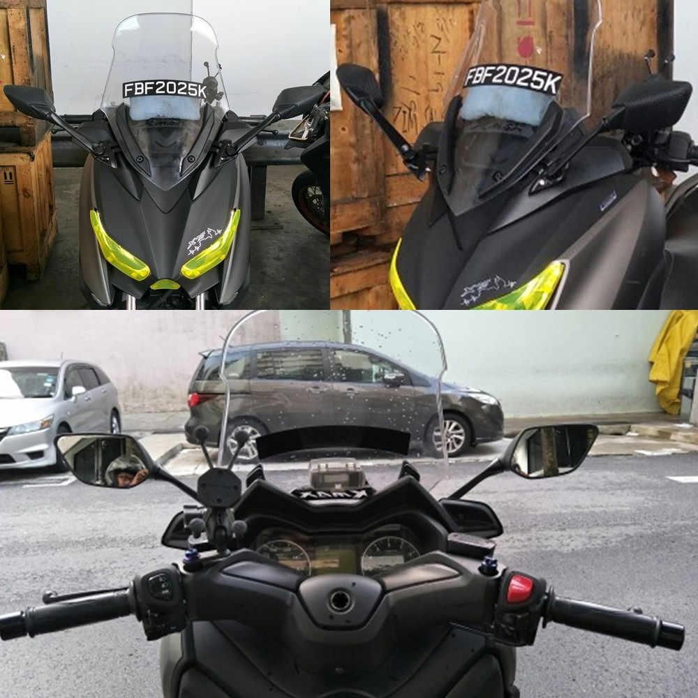 שונה אופנוע xmax 250 300 XMAX מראה סוגר עם סיבי פחמן מראה אחורית עבור yamaha xmax 300 xmax 250 2017 2018