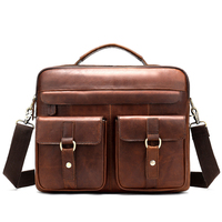 Luxury Men's Briefcase Work/office Bags for Men Genuine Leather Messenger Laptop Bag Leather Business Briefcase Bag for Document