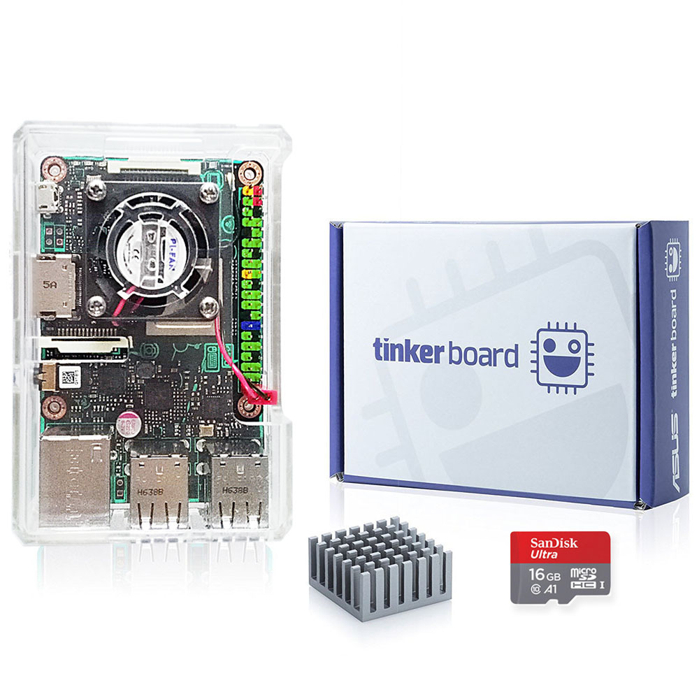 ASUS SBC Tinker <font><b>board</b></font> RK3288 <font><b>SoC</b></font> 1.8GHz Quad Core CPU, 600MHz Mali-T764 GPU, 2GB LPDDR3 Thinker <font><b>Board</b></font> / tinkerboard with TF Card image