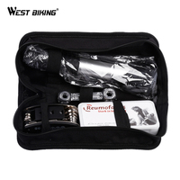 WEST BIKING Bicycle Repair Tools Bag With Mini Bike Pump Multifunction Bicycle Tools Kits Wrenches Tire