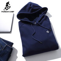 Pioneer Camp New Winter Thick Hooded Sweatshirt Men Brand Clothing Fleece Warm Hoodies Male 100 Cotton