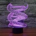 Acrílico 3D DNA Espiral Luz Brincadeiras Grande Nightlight Lâmpada de toque sensor LED Night Light USB Tabela Desk Lâmpadas como o presente IY803464