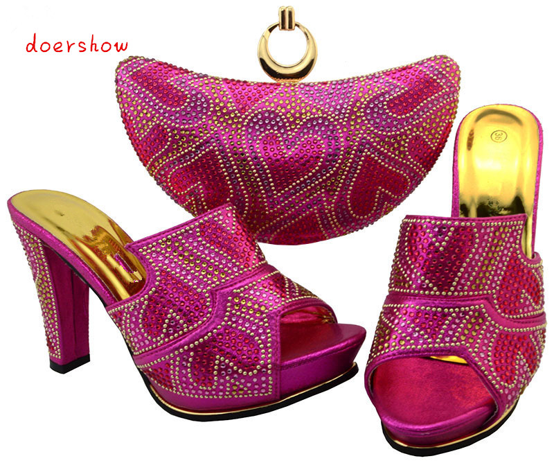 doershowNew Arrival Design Italian Shoes With Matching Bags Set Nice Quality African Shoes And Bag Sets With Rhinestones BCH1-14 new arrival design italian shoes with matching bags set nice quality african shoes and bag sets with rhinestones hlu1 17