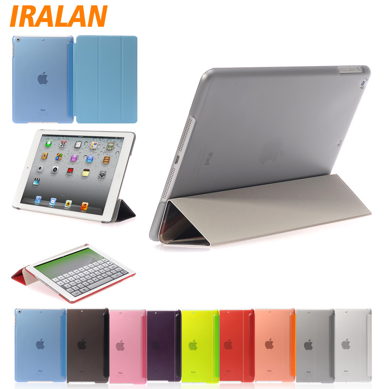 Ultra Thin Silk Magnetic PU Leather Design Smart Case For iPad 2/3/4 iPad 5 Tablet Accessories Slim Cover iPad Air