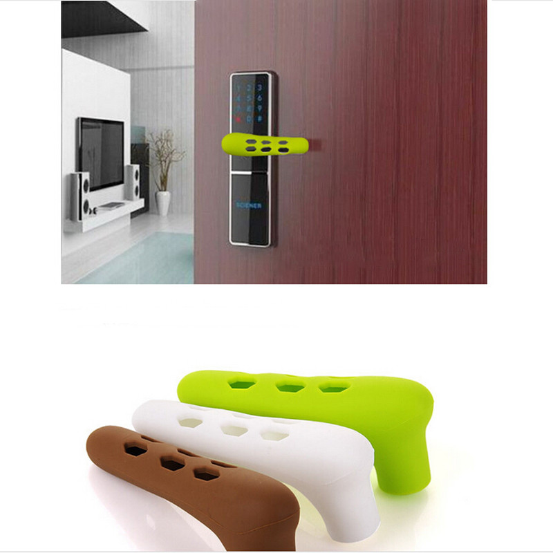 Door Handle Doorknob Safety Silicone Cover Guard Anti-collision Security Handle Protective Baby Safety Supplies