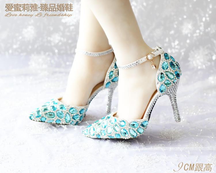 woman thin heels pointed toe pumps wedding buckle strap pearl crystal white  elegant wegging shoes rubber outsole size 34-41 USD 33.98-59.98 pair f058f2922c67