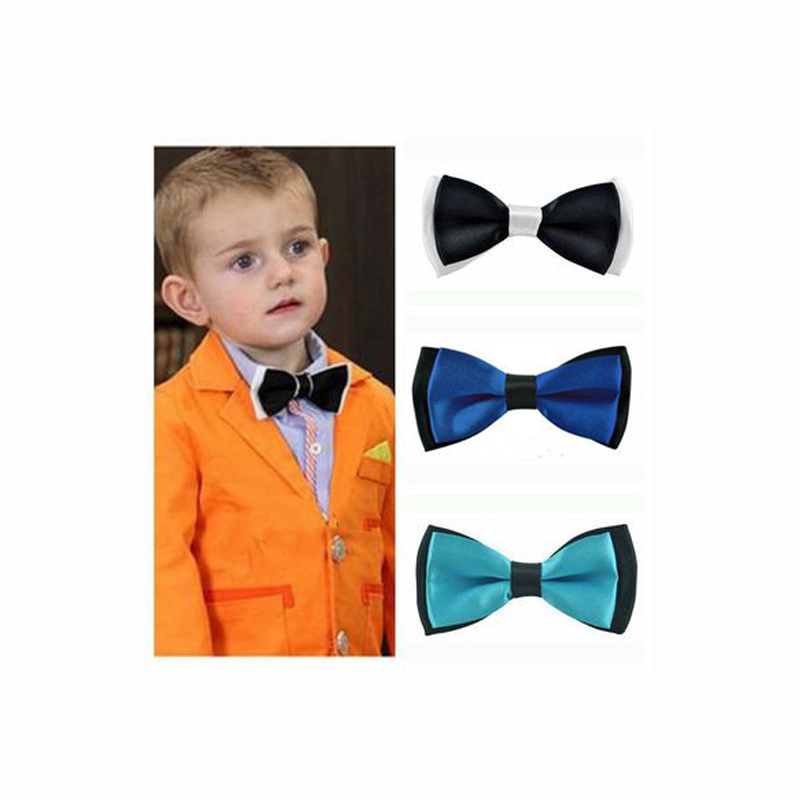 Fashion Kids Bow Tie Little Gentleman Shirt Neck Tie New Year Gift Adjustable men's Butterfly Tie For Wedding Night School Party