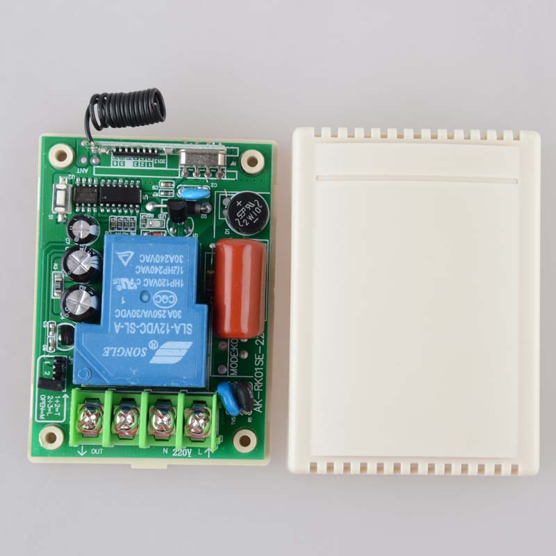 AC 220V 30A Relay Receiver Remote Control Switch 315/433mhz learning code ASK Smart Home B*roadlink TX Receiver Light Lamp LED