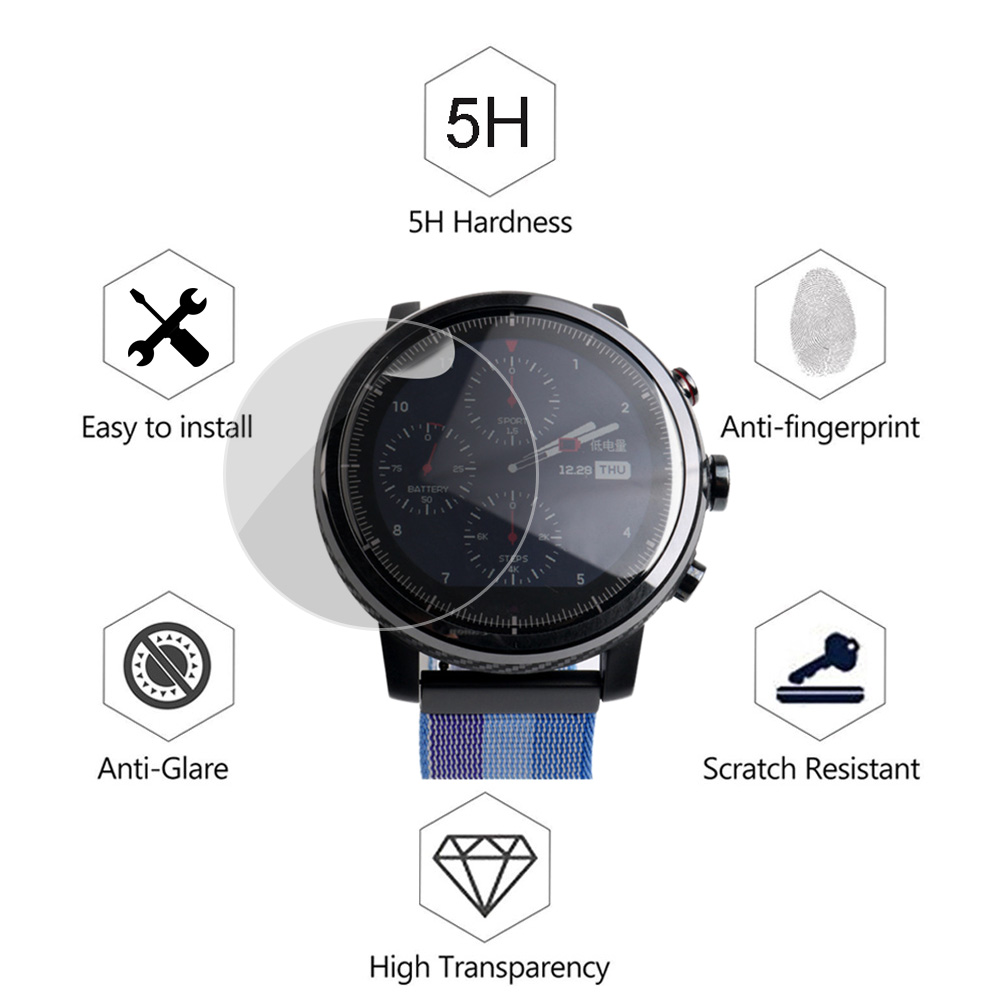2pcs/lot Soft TPU Screen Protector For Xiaomi Huami Amazfit Stratos Smart Watch 2 2S Screen Protective Film (Not Tempered Glass)