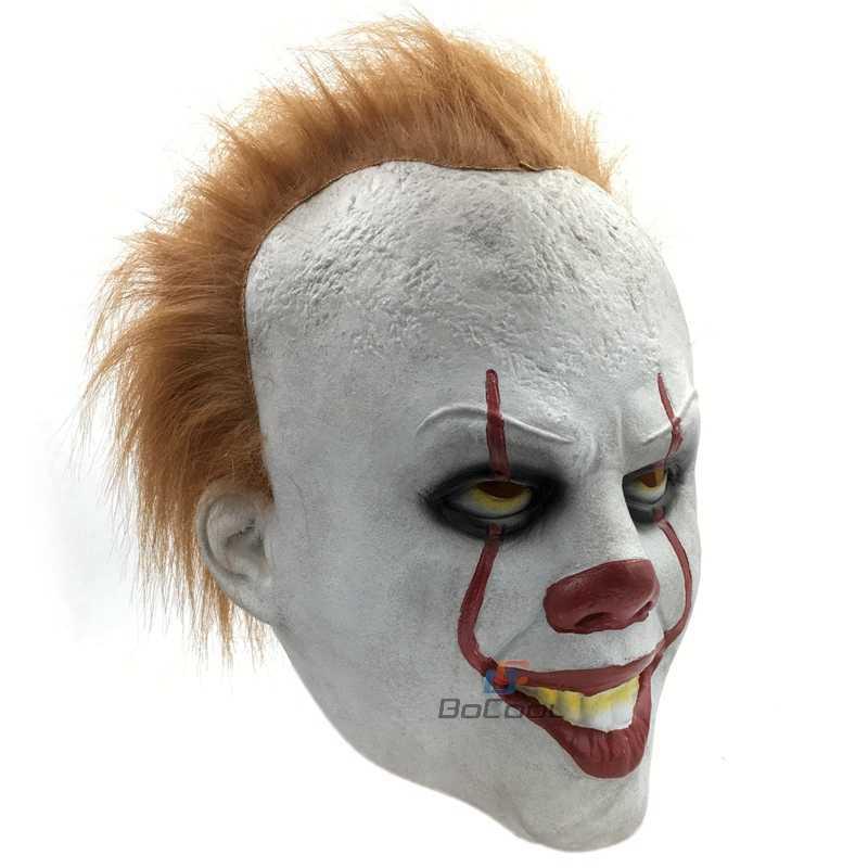 Стивен Кинг это пеннивайз Маска латекс Хэллоуин страшная Маска Косплей клоун партия маска реквизит