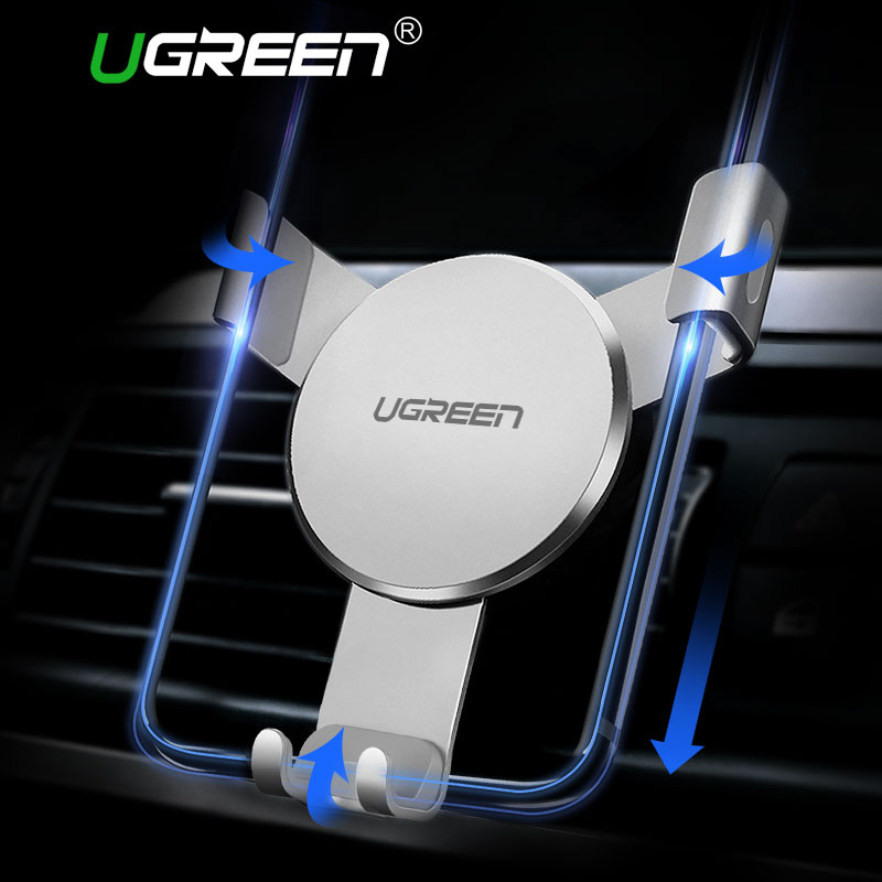 Ugreen Car Holder for iPhone 8 X 6 Gravity Reaction Air Vent Mount Phone Holder Clip Cell Phone Holder Stand for Samsung S8 GPS