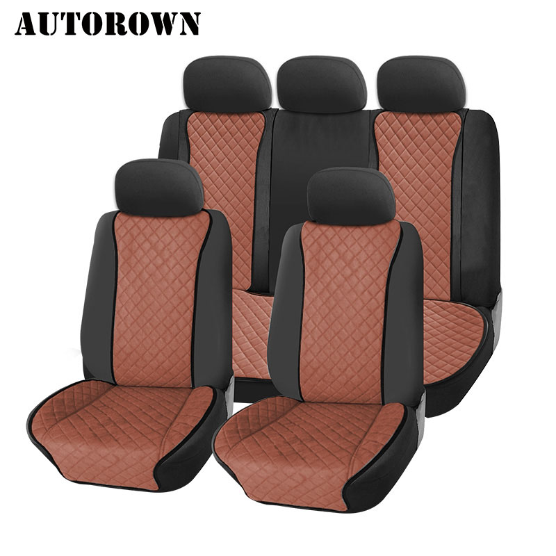 AUTOROWN Universal Car Seat Cover Four Seasons Automobiles Seat Covers Interior Accessories Auto Seat Cushion Protector Full Set