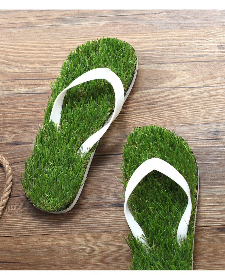 8eac9d1e803eb9 2017 Women Imitation Grass Flip Flops For Female Summer Beach Flip ...