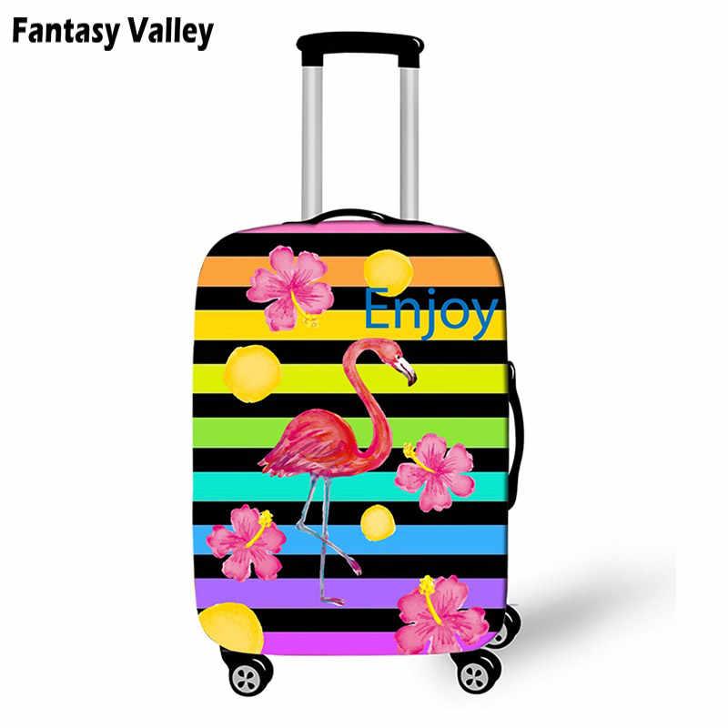 08182614094c ... Мультфильм Единорог/Фламинго эластичный чемодан защитный Чехлы для  мангала каваи чемодан Крышка для женщин Little ...