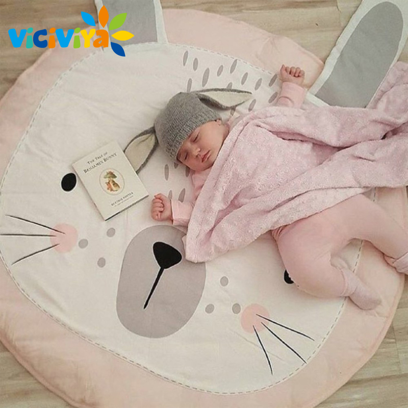 Kids Floor Mats Baby Crawling Blankets Chilren Padded Mat Soft Round Carpet Photography Prop Play Rug Room Decoration/ потолочная люстра n light box 314 08 53