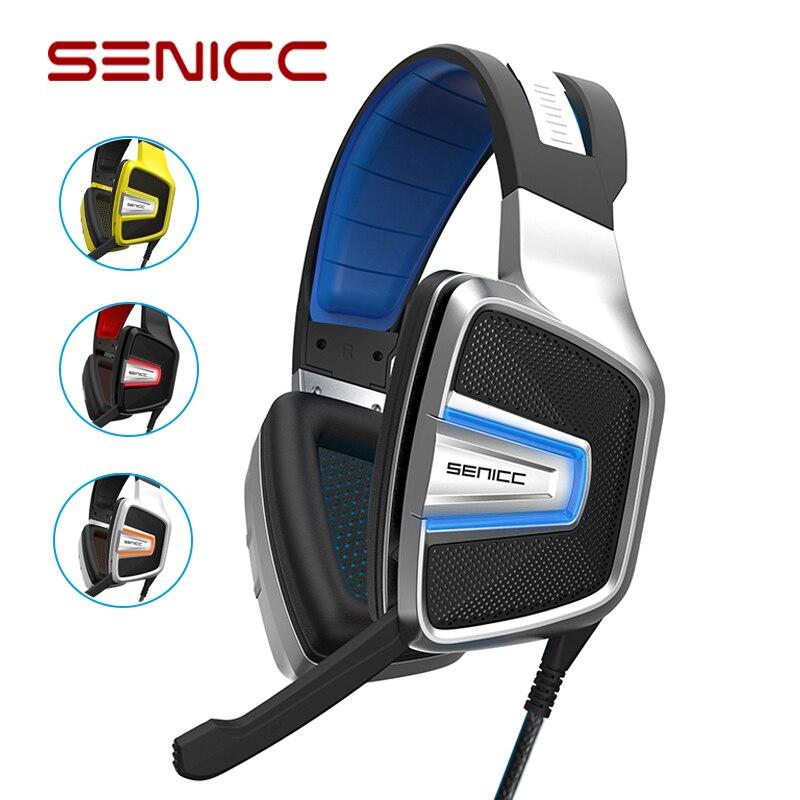 SENICC A8 USB Virtual de Som 7.1 Estéreo Fone de Ouvido Fone de ouvido Com Cancelamento de Ruído Fones de ouvido de Jogos com PUBG LED para PC LOL Jogos