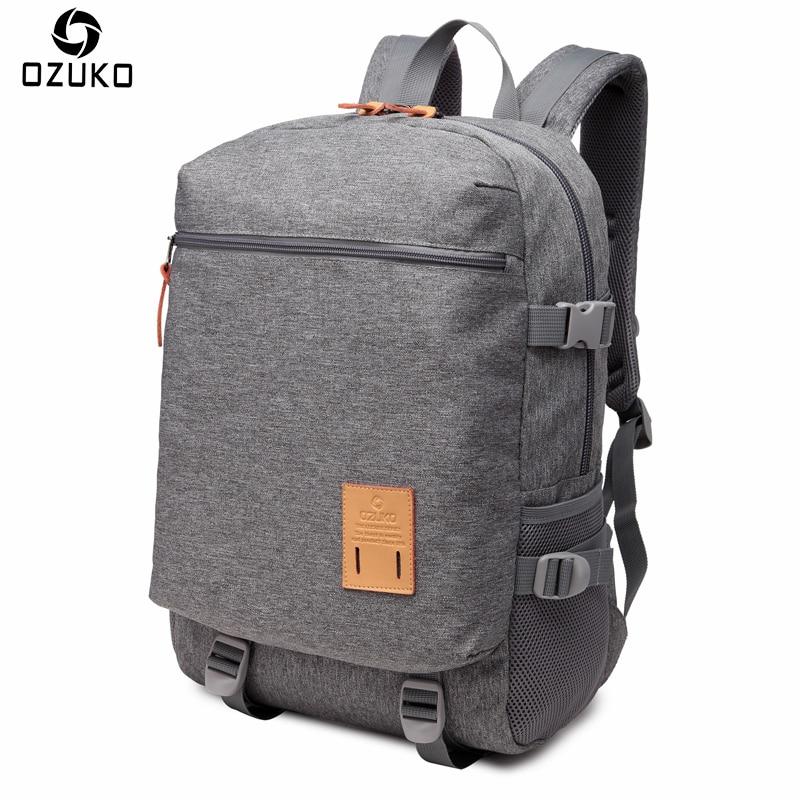 OZUKO Men Casual Backpacks Lightweight Multifunction Waterproof Laptop Backpack Large Capacity Travel Bag Teenagers School Bags ozuko men casual backpacks lightweight multifunction waterproof laptop backpack large capacity travel bag teenagers school bags