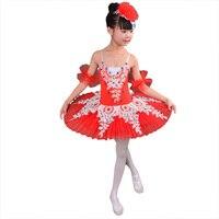 2018 New Kid Professional Swan Lake Ballet Tutu Costume for Children Ballerina Dress Kids Ballet Dress girl Dancewear tutu skirt