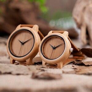 Image 4 - BOBO BIRD montre à Quartz pour femmes, montres à Quartz, bambou, cadeaux, collection livraison directe