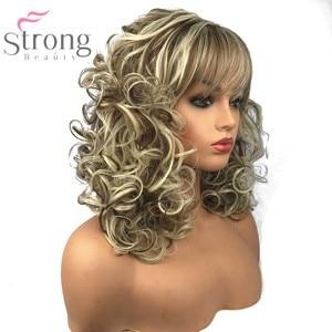 Image 4 - StrongBeauty שיער ארוך ומתולתל פאות סינתטיות של נשים בז בלונד לערבב פאות בלי כומתה, טבעי