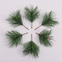 30pcs/lot Simulation Green Pine Needle Artificial Flower pine Branch Christmas Handcraft Gifts family Decoration Fake Plants